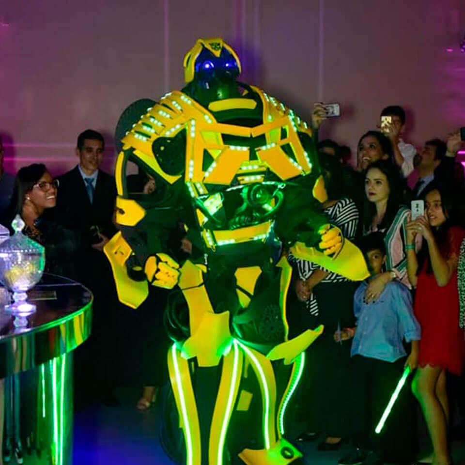 eventos realizados robô bumblebee sorocaba
