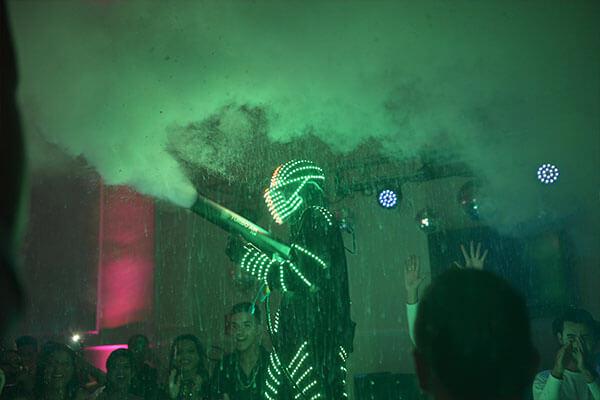 eventos realizados robô led dancer em sorocaba
